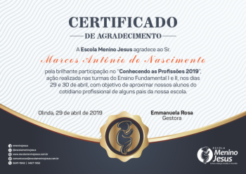 Certificado Profissoes